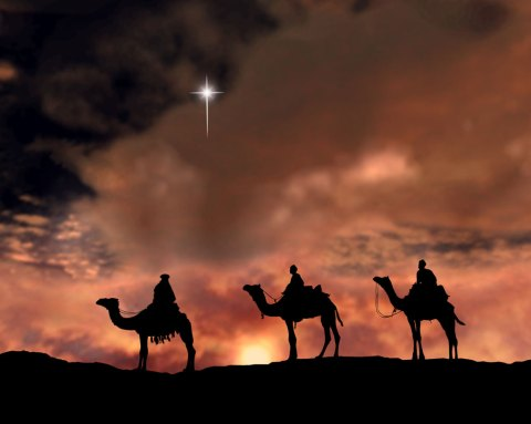 An ilustration of the Christmas star sightings